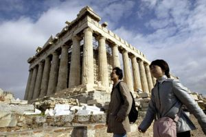 Chinese Tourists at Acropolis