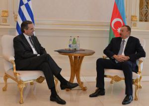 Meeting between Samaras and Aliyev