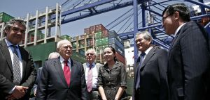 President Papoulias at Cosco Collaboration