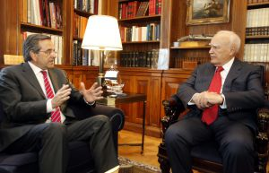 PM Samaras and President of the Republic Papoulias