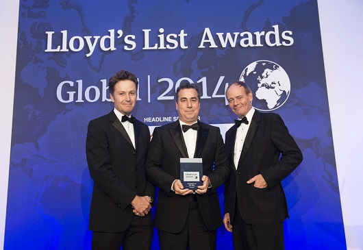 Lloyd's List Global Awards: the Greek Shipping Company COSTAMARE wins the company of the year award.