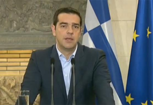 Prime Minister Alexis Tsipras' address concerning the referendum to be held on the 5th of July