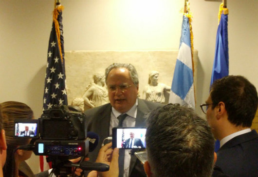 Foreign Minister N. Kotzias statements to journalists on completion of his visit to the U.S.A. (14 March 2017)