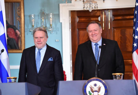 Joint statements of Alt. Minister of Foreign Affairs G. Katrougalos and of US Secretary of State M. Pompeo following their meeting in the framework of the US-Greece Strategic Dialogue